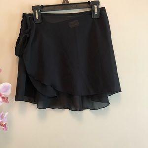 Mirella  Black Ballet Wrap Skirt One Size